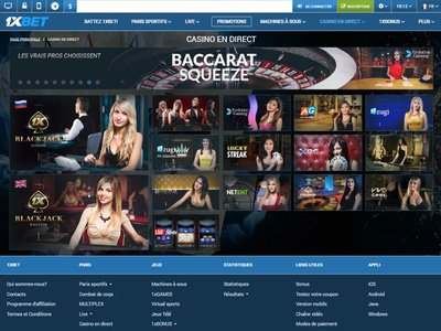 1xBet Casino site captures d
