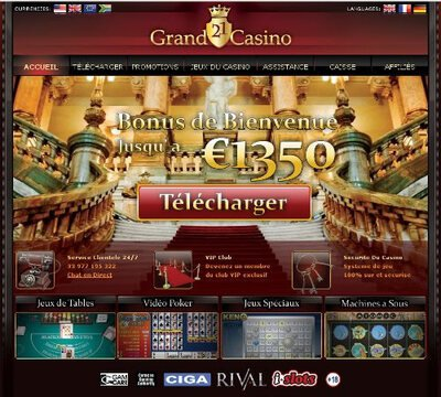 21 Grand Casino site captures d