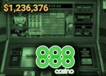 jackpot de plus d'un million gagné casino 888