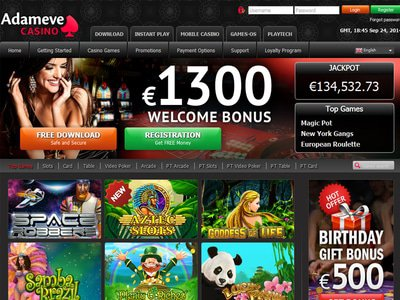 Adameve Casino site captures d