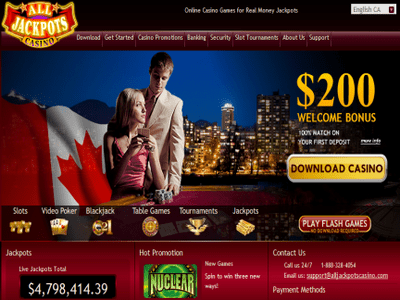 All Jackpots Casino site captures d