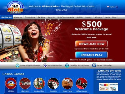 Allslots Casino site captures d