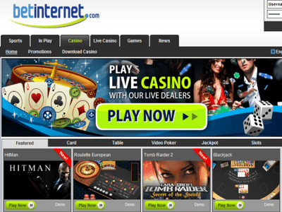 Bet Internet Casino site captures d