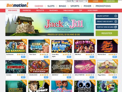 Bet Motion Casino site captures d