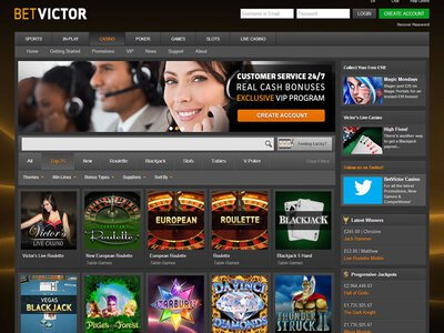Bet Victor Casino site captures d