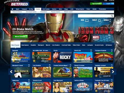 Betfred Casino site captures d