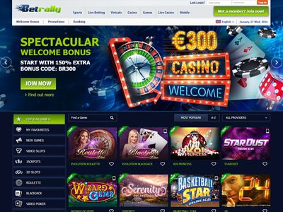 Betrally Casino site captures d