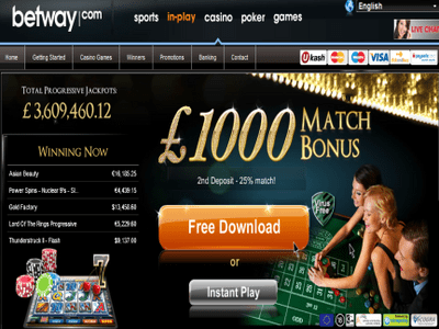 Betway Casino site captures d