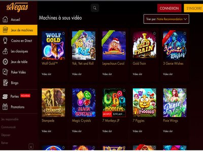 BeVegas Casino site captures d