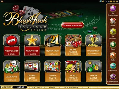 Blackjack Ballroom Casino logiciel captures d
