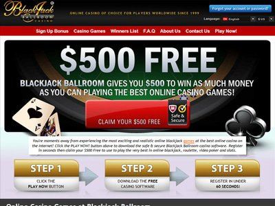 Blackjack Ballroom Casino site captures d