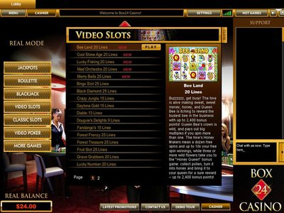 Box24 Casino logiciel captures d