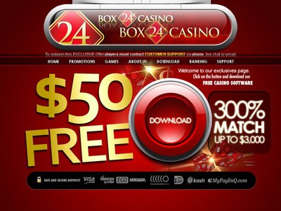 Box24 Casino site captures d