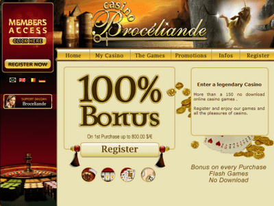 Broceliande Casino site captures d