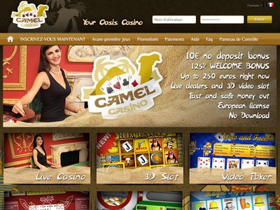 Camel Casino site captures d