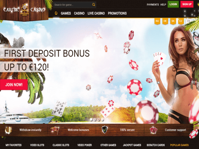 Caribic Casino site captures d