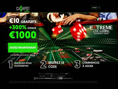 Cashpot Casino site captures d