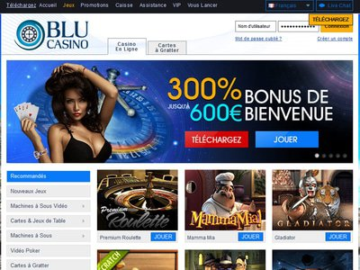 Casino Blu site captures d