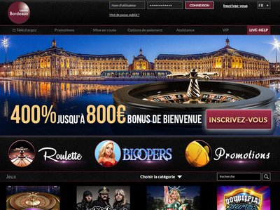 Casino Bordeaux site captures d