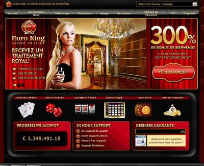 Casino Euro King site captures d