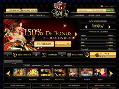 Casino Grand Fortune logiciel captures d