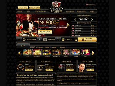 Casino Grand Fortune site captures d