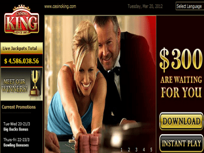 Casino King site captures d