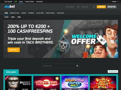 Casino Mybet site captures d