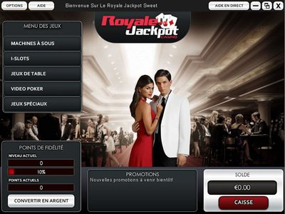 Casino Royale Jackpot logiciel captures d