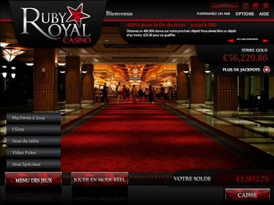 Casino Ruby Royal logiciel captures d