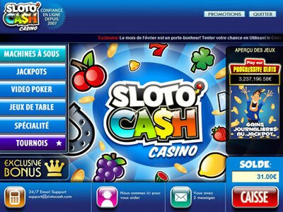 Casino SlotoCash site captures d