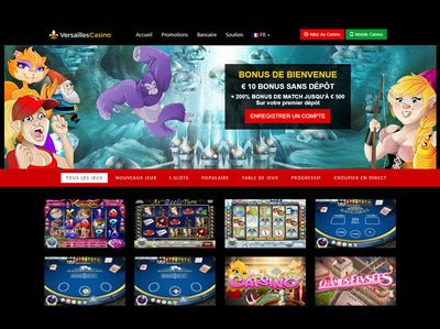 Casino Versailles site captures d