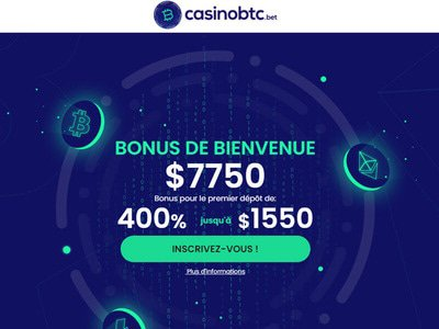 CasinoBTC site captures d