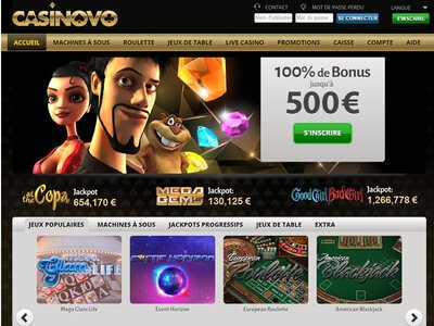 Casinovo site captures d