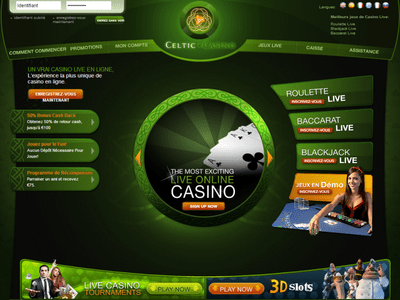 Celtic Casino site captures d