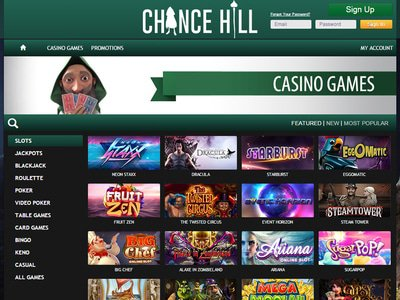 ChanceHill Casino logiciel captures d