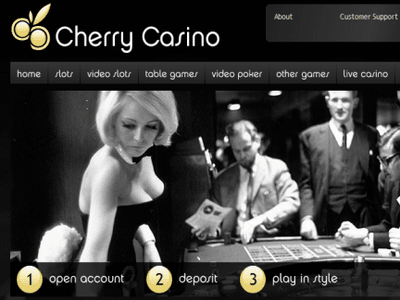 Cherry Casino site captures d