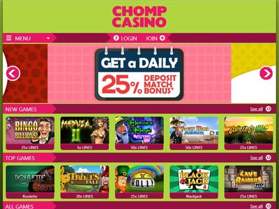 Chomp Casino site captures d