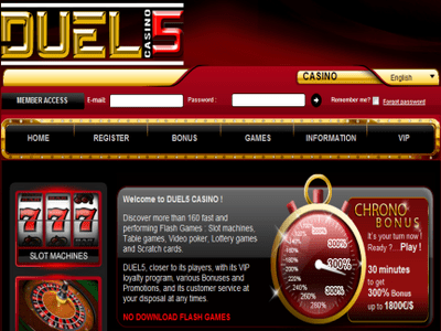 Duel5 Casino site captures d