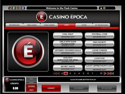 Epoca Casino logiciel captures d