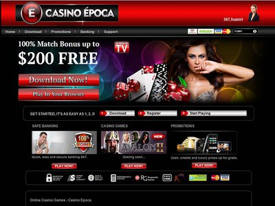 Epoca Casino site captures d