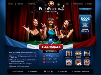 Eurofortune Casino site captures d