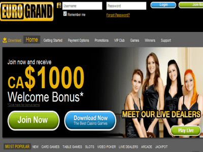 Eurogrand Casino site captures d
