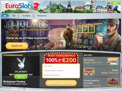EuroSlots Casino site captures d