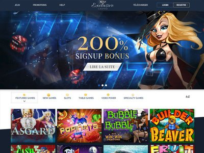 Exclusive Casino site captures d