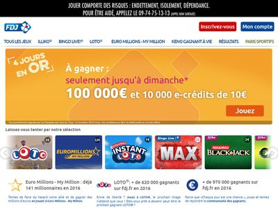 FDJ Casino site captures d