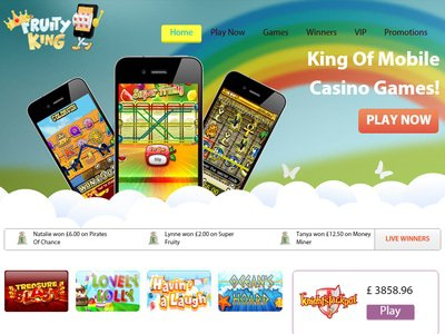 Fruity King Casino site captures d