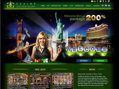 Golden Glory Casino site captures d