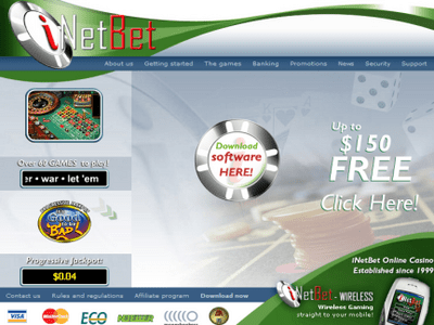 Inetbet Casino site captures d