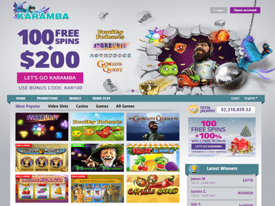 Karamba Casino site captures d